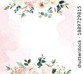 retro delicate wedding card... | Shutterstock .eps vector #1889729815