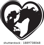 Horse And Cowgirl Heart...
