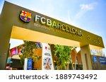 Camp Nou Stadium Gate Signboard ...