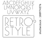 Vector font. Slim fashion type. Light retro letters. Fashion typeface.