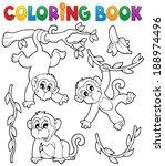 Coloring Book Monkey Theme 1  ...