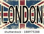 united kingdom union jack flag  ... | Shutterstock .eps vector #188975288