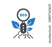 organic seo related glyph icon. ...   Shutterstock . vector #1889762605