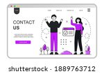 contact us landing page concept....