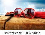 red sunglasses  | Shutterstock . vector #188978045