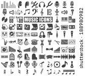 music icons set on white... | Shutterstock .eps vector #188980982