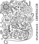 hand drawn with inspiration... | Shutterstock .eps vector #1889836138