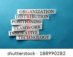 growth  acronym in business... | Shutterstock . vector #188990282