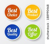set of promotional stickers ... | Shutterstock .eps vector #188990468