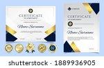 certificate of appreciation... | Shutterstock .eps vector #1889936905