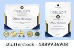 certificate of appreciation... | Shutterstock .eps vector #1889936908
