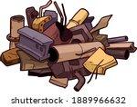 scrap metal illustration... | Shutterstock .eps vector #1889966632