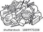 scrap metal illustration...   Shutterstock .eps vector #1889970208