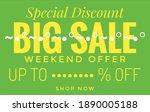 special discount big sale...   Shutterstock . vector #1890005188