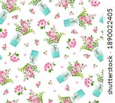 seamless vector pattern with a... | Shutterstock .eps vector #1890022405