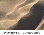 Tiny Sand Dune Close Up In Soft ...