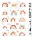 vector boho rainbow in cartoon... | Shutterstock .eps vector #1890095398