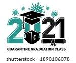 quarantine graduation class of...   Shutterstock .eps vector #1890106078