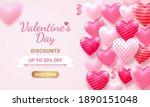 valentine's day card with heart ... | Shutterstock .eps vector #1890151048