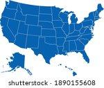usa america map states border... | Shutterstock .eps vector #1890155608