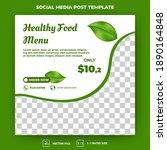 editable square banner template.... | Shutterstock .eps vector #1890164848