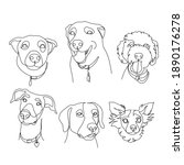 Dog Line Drawing Vector....
