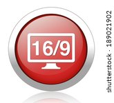 16 9 display icon | Shutterstock . vector #189021902