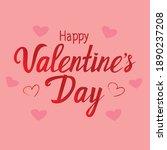 happy valentine's day lettering ... | Shutterstock .eps vector #1890237208
