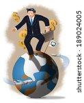 businessman and working overseas   Shutterstock . vector #189024005