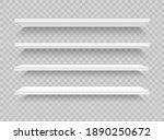 white realistic shelves. 3d...   Shutterstock .eps vector #1890250672