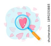 search heart and find love with ...   Shutterstock .eps vector #1890253885