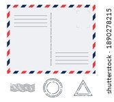 postcard in air mail style with ...   Shutterstock .eps vector #1890278215