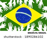 confiscating the brazilian flag ... | Shutterstock .eps vector #1890286102