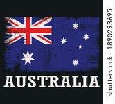 australia grange flag t shirt... | Shutterstock .eps vector #1890293695