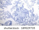 Antique Blue And White French...