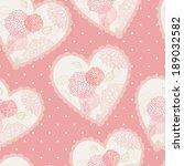 seamless floral hearts ... | Shutterstock . vector #189032582