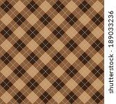 argyle brown seamless pattern... | Shutterstock .eps vector #189033236
