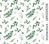 tender  vector winter christmas ... | Shutterstock .eps vector #1890334258