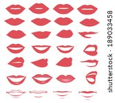 vector lips and mouth  ... | Shutterstock .eps vector #189033458