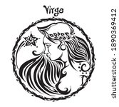 virgo zodiac sign design form... | Shutterstock .eps vector #1890369412