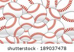 baseballs vector background | Shutterstock .eps vector #189037478