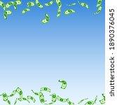 american dollar notes falling....   Shutterstock .eps vector #1890376045