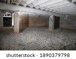 basement crawl space sans insulation