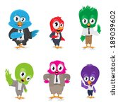 cartoon birds   isolated on... | Shutterstock .eps vector #189039602