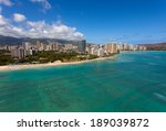 hawaii's cityscape from the... | Shutterstock . vector #189039872