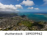 beautiful aerial of hawaii's...   Shutterstock . vector #189039962