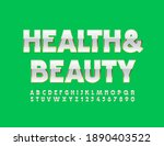 vector stylish sign health and...   Shutterstock .eps vector #1890403522