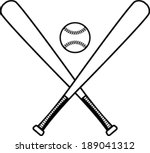 baseball bats and baseball... | Shutterstock .eps vector #189041312