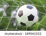 soccer football in goal net   Shutterstock . vector #189041522