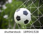 soccer football in goal net | Shutterstock . vector #189041528